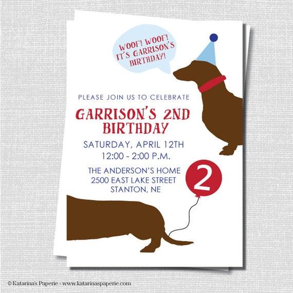 Boy dog birthday party invitations filmwisefo