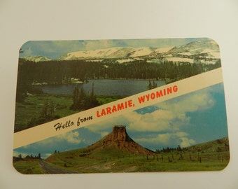Vintage Postcard from Wyoming