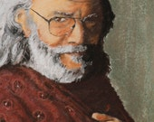 8x10 Fine Art Print of Grateful Dead Frontman, Jerry Garcia , from a Pastel Original
