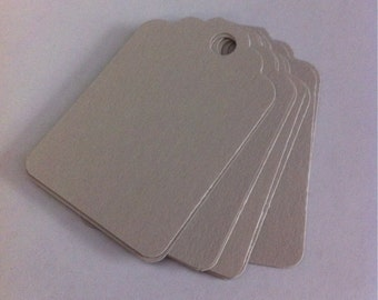 Set of 50 light  gray Tags , Favor Tags, Treat Bag Tags, Product Tags, Hang Tags, Wish Tree Tags, birthday tags ,