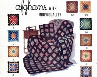 Brilliant Granny Squares Crochet Blanket Pattern