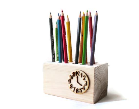 Pencil Holder Pen Holder Wooden Desk Organizer Office