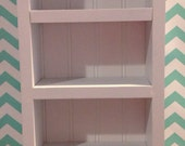 NEW 1 tall shelf ONLY, white, for living room or dining or bedrooms, fits American Girl Doll