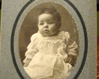 Vintage Photo of Baby Girl