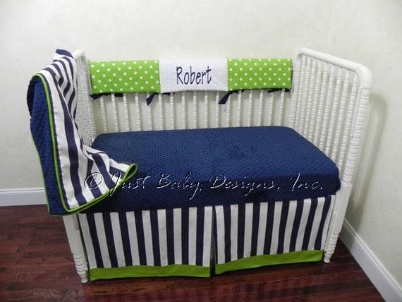 Custom Bumperless Crib Bedding Set Robert Boy By