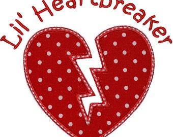 Lil Heartbreaker Valentine Applique Shirt