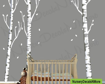 Lovely Repositionable Birch Tree Decal, More Realistic, Reusable, White Birch Tree  Wall Decals ( Nice Look