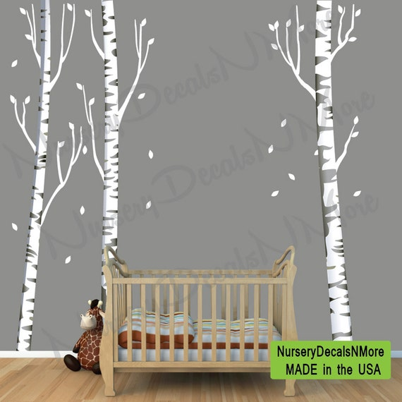 Repositionable Birch Tree Decal More Realistic Reusable