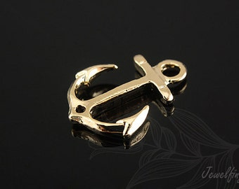 H076-20pcs-Gold Plated-anchor