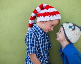 Crochet Pattern Long Stripped Hat. Instant Digital download CP204LSH