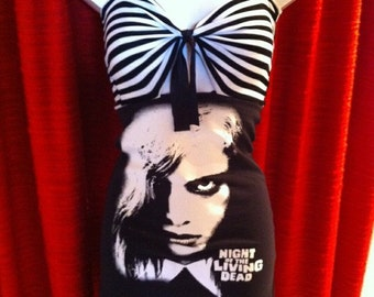 Night of the Living Dead Beetlejuice Dress Black Size S