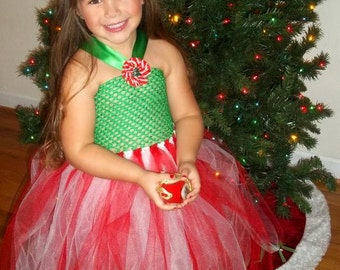 Christmas tutu dress- sizes 5-8