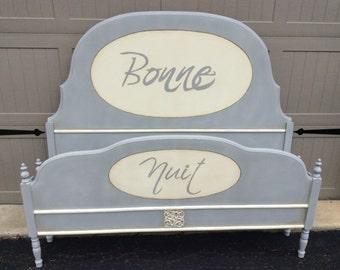 SOLD - Beautiful Antique Painted Bed