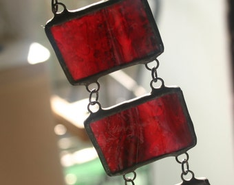 Stained glass bracelet, led free.