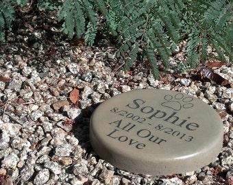 """Custom Engraved Pet Memorial7.5"""" Diameter All Our Love"""