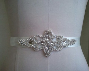 Wedding Belt, Bridal Belt, Sash Belt, Crystal Rhinestone  - Style B800118