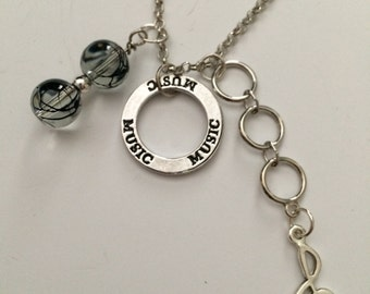 Music themed necklace