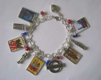 Love LONDON Charm Bracelet. Handmade, Unique