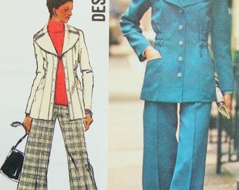 "Uncut Retro 1970s Simplicity Sewing Pattern no 5868 Size 16 Bust 38"" Vintage Jacket & Pants"