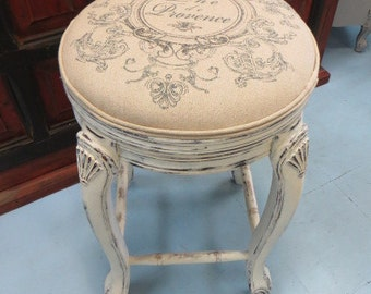 Shabby Chic Vintage Swirl High Chairs Bar Stools