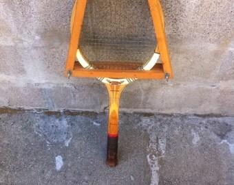 Vintage DUNLOP Wooden Tennis Racket Light Grip Medium  4 3/4  with Press, Vintage England Raqcuet  tennis with original press