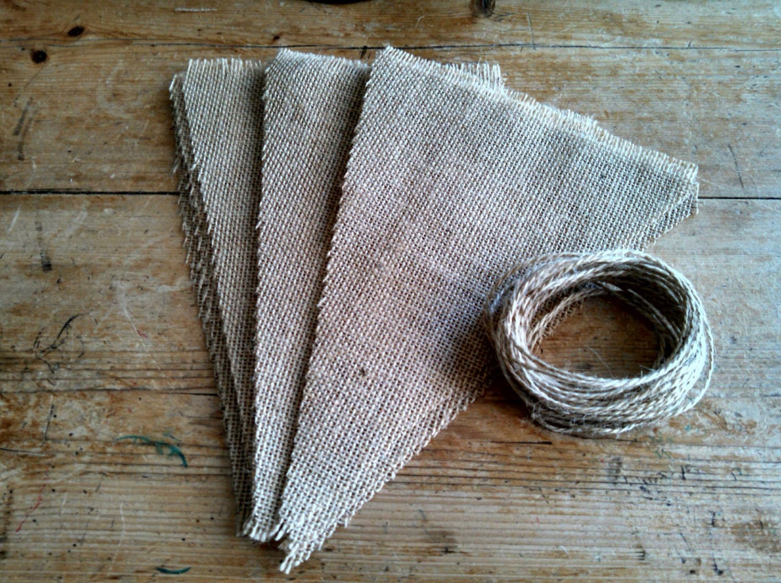 diy burlap banner make it yourself blank triangle pennant. Black Bedroom Furniture Sets. Home Design Ideas