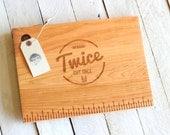 Measuring &  Cutting Board, - Rustic, Modern Solid Wood