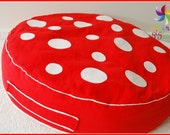Large Toadstool Floor Cushion: The ORIGINAL red
