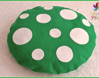 Mini Toadstool Floor Cushion: Emerald Green