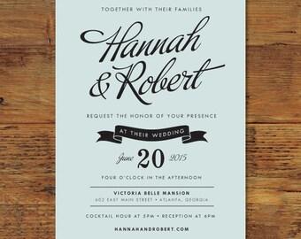 Savile Wedding Invitation Suite | Print-it-Yourself