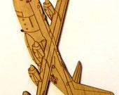 KC-130 Wooden Fridge Magnet