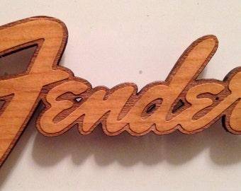 Fender Logo Wooden Fridge Magnet