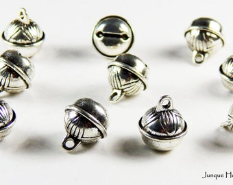 Antique Pewter Bell Charms for Jewelry Making - Packages of 12