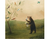 """Fine Art Print of an Original Animal Painting: """"The Poet's Muses"""""""