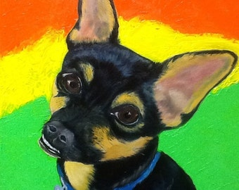 Chihuahua Oil Painting