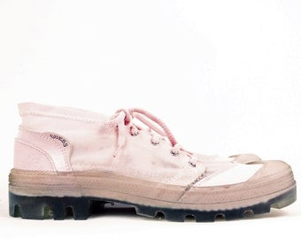 Vtg 90s Pale Pink Guess Mesh Amp Jelly Tennis Shoes Size 7