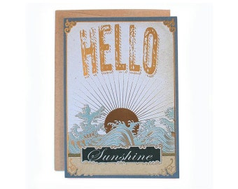 Hello Sunshine! 5 x 7  eco-friendly greeting card