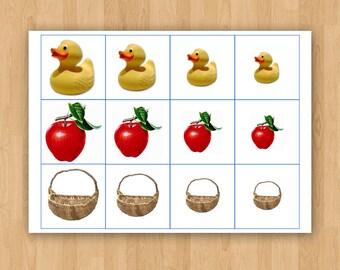 Digital Printable Montessori Size Order Sheet