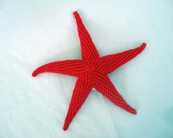 Amigurumi starfish, plush starfish, toddler toy, MADE TO ORDER