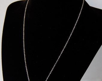 """18"""" Sterling Silver Lucky Horseshoe Necklace with small diamond chip"""