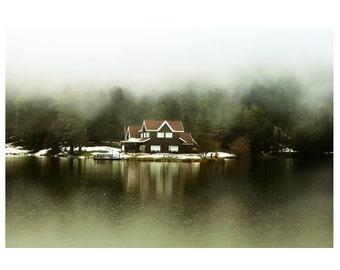 Landscape photography,  fog, Lake, Nature photography, decor, art, Home Decor, wall decor, Rustic , print, gift ideas, 10'' x 15'' inch