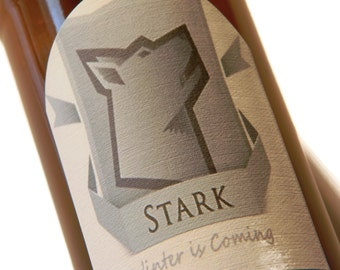Sansa Stark,Robb Stark,Catelyn Stark,Arya Stark, Stark, Beer Labels, Winter is Coming, Game of Thrones, Stocking Stuffer, House Stark