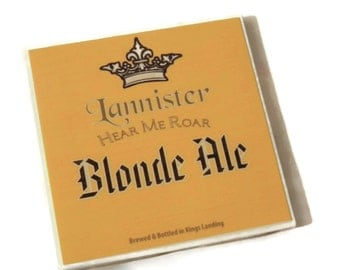 Tyrion Lannister,Tywin Lannister, Game of Thrones Gift, Game of Thrones Beer, Hear Me Roar,Game of Thrones,Beer Coasters, House Lannister