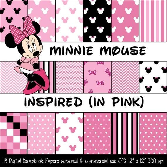 MINNIE MOUSE inspirado Rosa Polka Dot & arco por DigitalFun0113