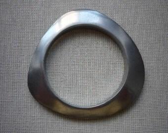 Great Vintage Glen Yank Style Modernistic Triangle Aluminum Bangle Bracelet