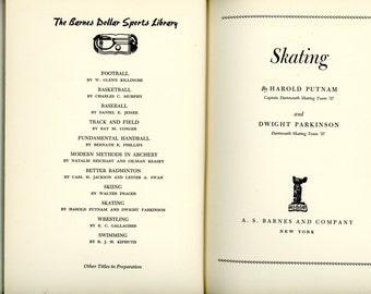 "1939 Book, ""Skating"", First Edition"