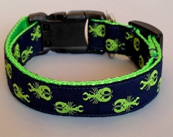 PREPPY MAINE LOBSTER Dog Collar - Leash Sold Separately