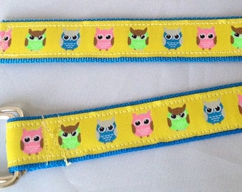 PREPPY TODDLER BELT - Yellow Multi Owls