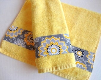 yellow and grey bath towels yellow and grey yellow by augustave. Black Bedroom Furniture Sets. Home Design Ideas