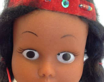 1960's Native American Indian Girl Squaw Plastic Doll